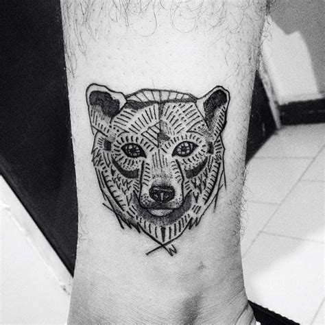 simple bear tattoo images designs