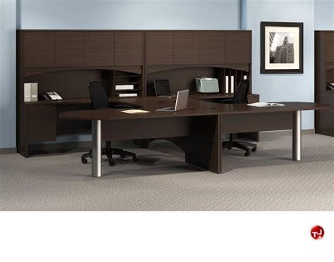two person peninsula desk the office leader 2 person d top u shape office desk