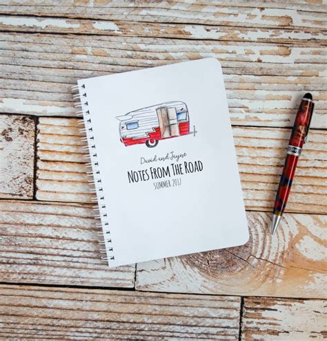 travel journal personalized spiral notebooks custom rv trailer