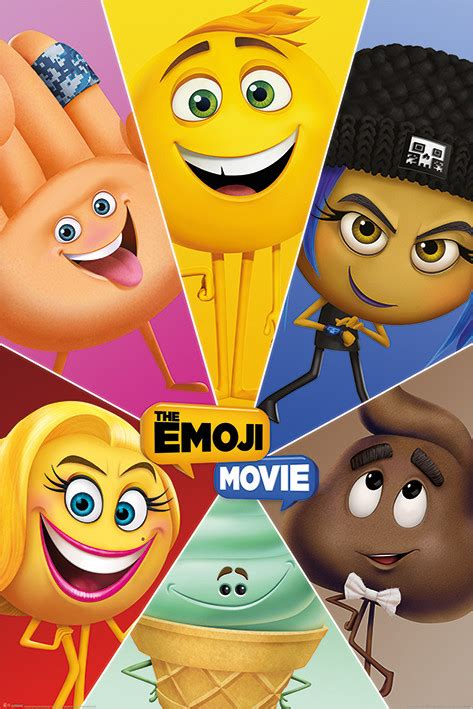 emoji film posters the emoji movie star characters poster sold at