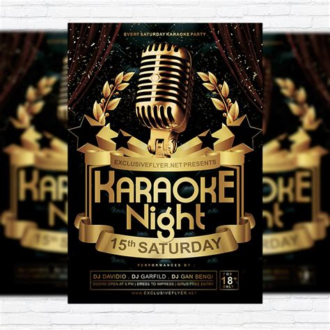 Karaoke Night Vol 2 Premium Flyer Template Facebook Cover Exclsiveflyer Free And Premium Karaoke Flyer Template Free