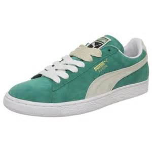 Mens Sneakers Shoes Suede Classic Mens Sneakers Shoes Green For