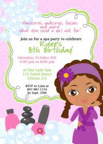 diy sassy spa invitation american