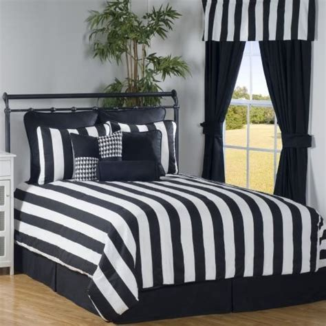 black white striped bedding victor mill city stripe twin 7 piece bed in a bag black