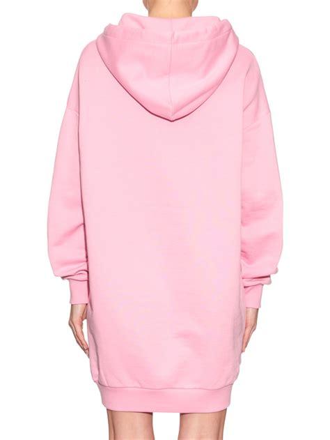 light pink oversized sweater the trueself moschino oversized logo sweater