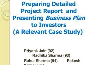 preparing a business plan template preparing detailed project report and presenting business