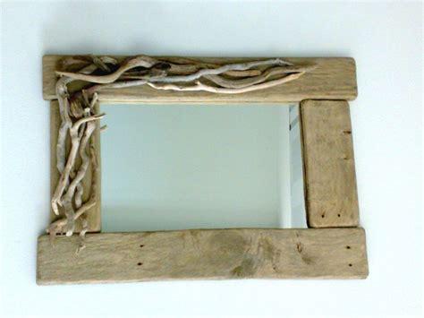 tavole di mare lopsided specchio con legni di mare e tavole di recupero