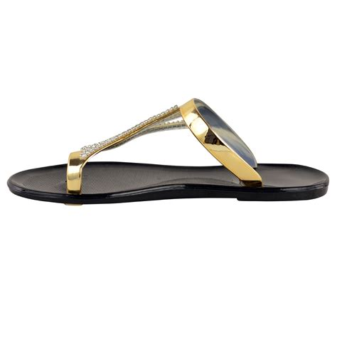 jelly sandals new diamante jelly sandals summer womens flat