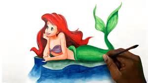 draw ariel princess mermaid movie