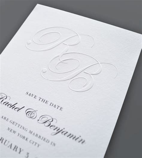 Embossed Wedding Invitations by More Printing Embossed Wedding Invitations