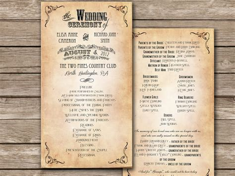 Free Wedding Program Templates Masterforumorg Inspirations Of Wedding Venues Templates Dress Free Rustic Wedding Program Templates