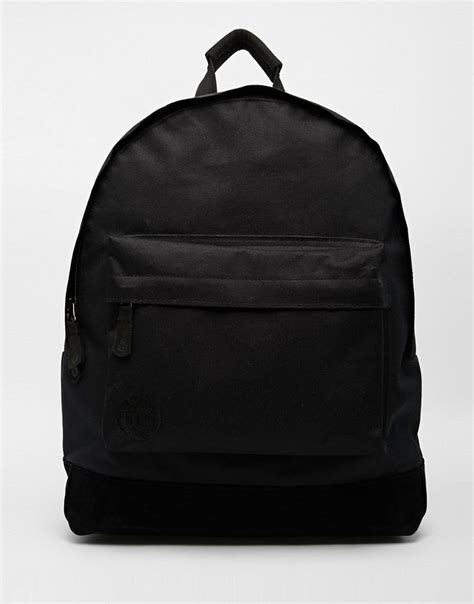 Black Backpack mi pac mi pac classic backpack in all black at asos
