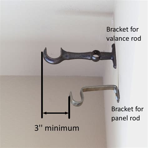 where to put brackets for curtain rod where to hang curtain rods for valance curtain