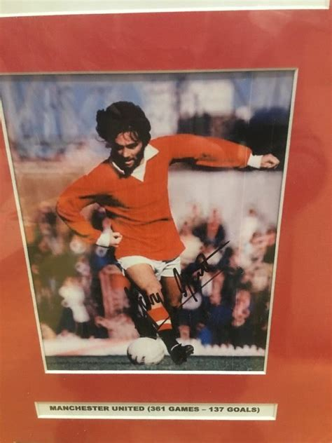 george best signed photo george best signed photo display signed memorabilia 4u