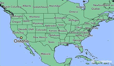 toronto on a world map where is ontario ca ontario california map