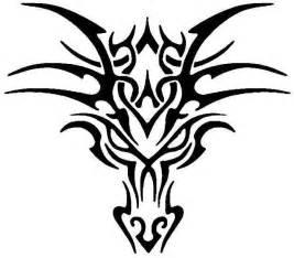 4 tribal head dragon tattoos for men