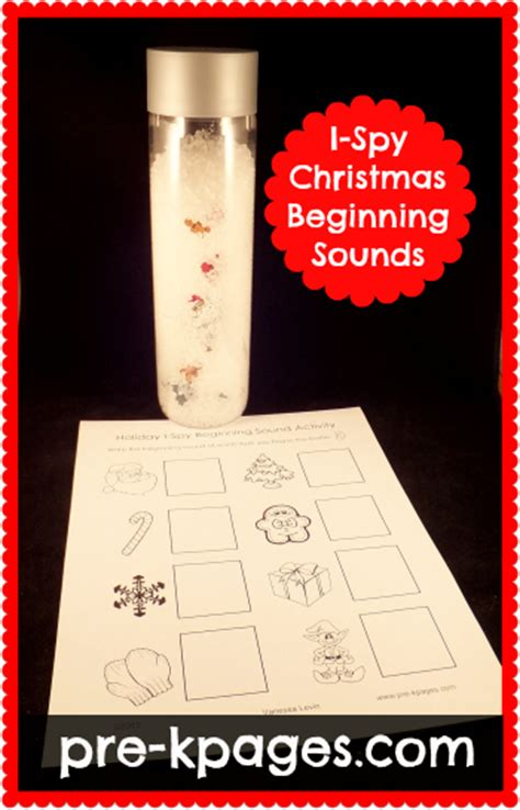holiday  spy beginning sounds activity