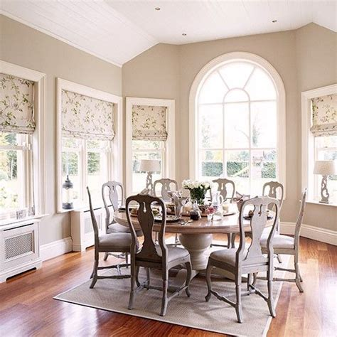 Neutral Dining Room Decor Neutral Dining Room With Arched Window Dining Room