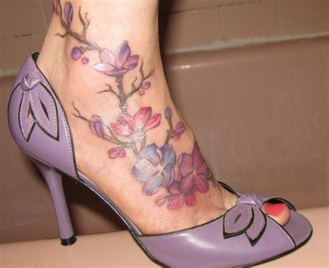 foot flower tattoo designs 50 lovely cherry blossom designs creativefan