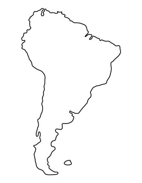 South And America Map Outline by South America Pattern Use The Printable Outline For Crafts Creating Stencils Scrapbooking