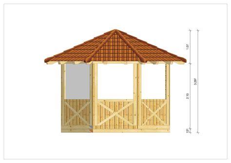 pavillon bausatz greemotion pavillon mailand braun wasserabweisendes dach