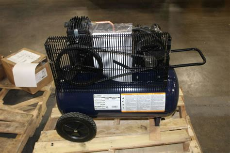 cbell hausfeld cast iron air compressor 5 hp peak 20 gallon vt6290 ebay