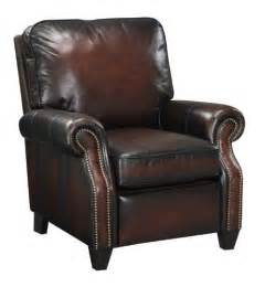 At home designs raeburn all top grain leather recliner