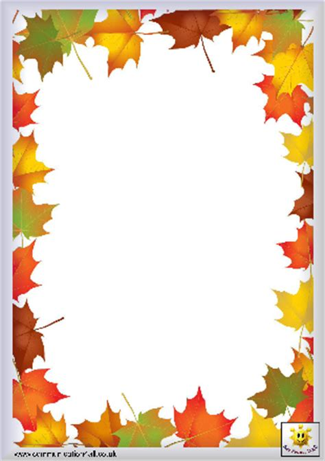 Decorated Paper Fall Border Templates