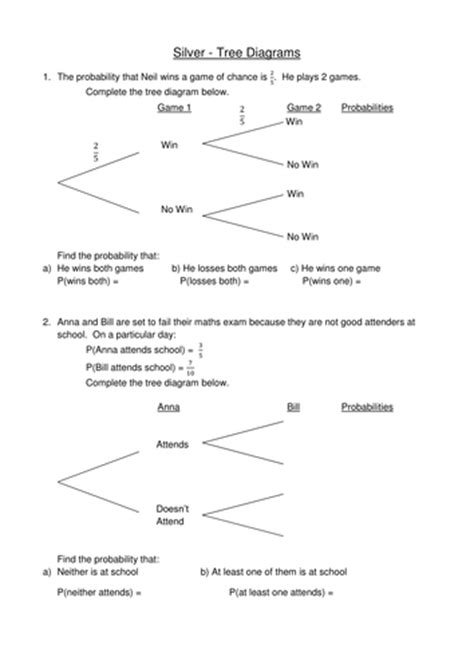 probability tree diagrams by jessica walter teaching