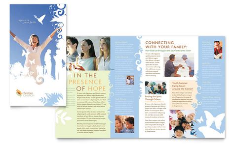 christian church brochure template word publisher