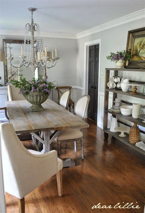 updated dining room    farmhouse table