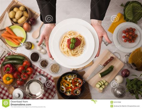ingredient cuisine chef at work cooking pasta stock photo image 53157008