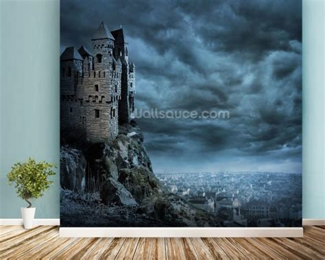 castle wall murals castle wall mural castle wallpaper wallsauce