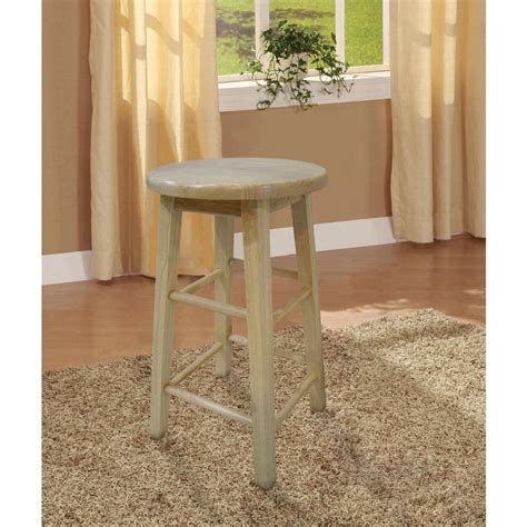 Linon 24 In Stool by Linon Home Decor 24 In Wood Bar Stool 98100nat 01