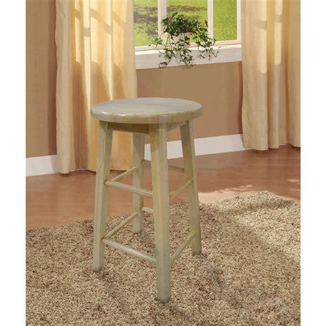 linon home decor bar stools linon home decor 24 in round wood bar stool 98100nat 01
