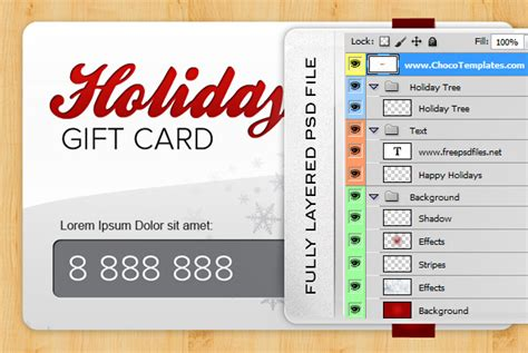 photoshop template gift card holiday gift card psd template free psd files