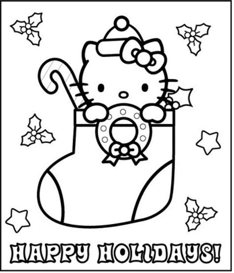 hello kitty christmas tree coloring page free coloring pages of christmas hello kitty
