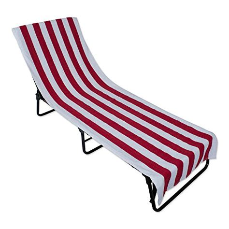 Fitted Lounge Chair Towels by Stripe Lounge Chair Towel With Fitted Top Pocket