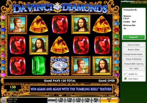 Play da vinci diamonds online slots free or from 1p to 163 10 10p
