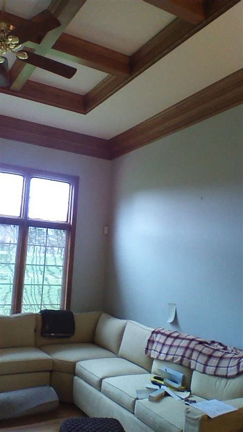 what neutral interior paint color works with the smoky golden oak wood trim