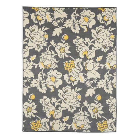 non skid area rugs ottomanson studio collection floral design grey 5 ft x 6 ft non skid area rug sc5063 5x7 the