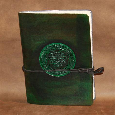 design journal green journal a5 leather journal with celtic green man design