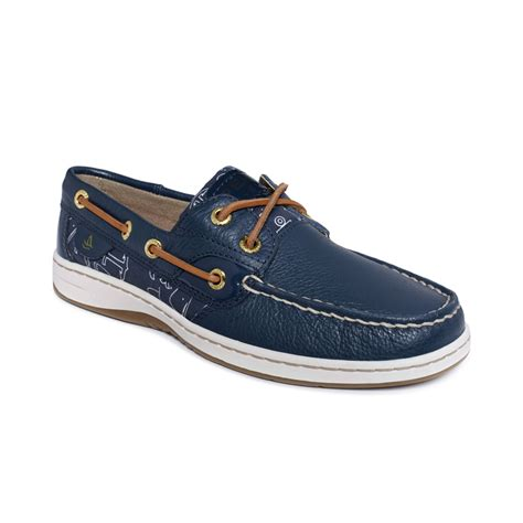 topsiders shoes sperry top sider bluefish boat shoes in blue navy whale