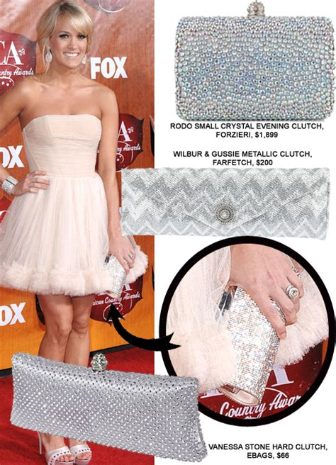 Carrie Underwood With Their Clutches by Clutches Carrie Underwood Silver Handbag Real