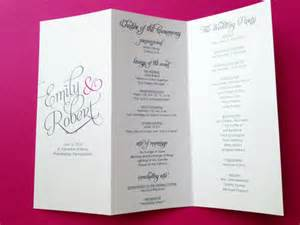 wedding planner brochure template 25 wedding program brochure templates