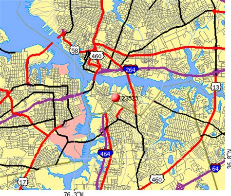 Zip Code Map Norfolk Va | 23523 zip code norfolk virginia profile homes