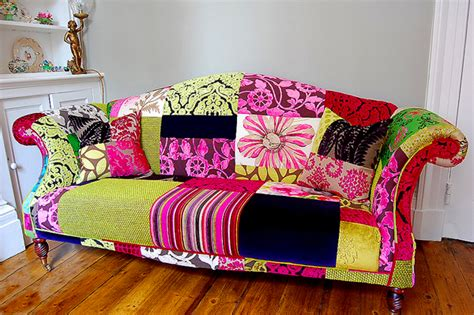 colorful settee femme hub decorating on the cheap how to add colour to