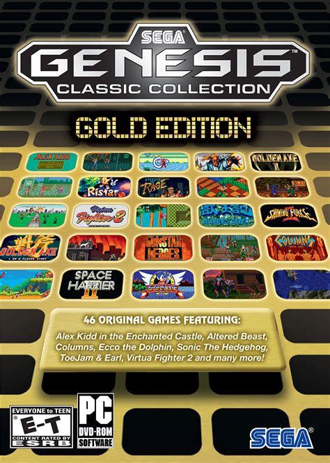 sega genesis pc sega genesis classic collection gold edition pc ign