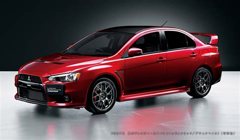 mitsubishi rolls out lancer evolution edition in japan