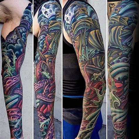 colorful sleeve tattoos 70 unique sleeve tattoos for aesthetic ink design ideas